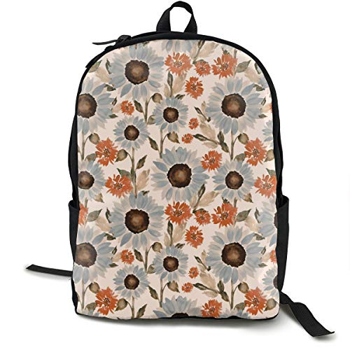 USB Backpack 17 Inches Laptop Backpack for Travel Sunflower Fields