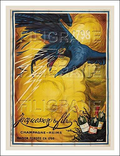 Herbé TM Poster / Kunstdruck, 50 x 70 cm (auf Papier 60 x 80 cm) d1, Vintage/Retro, Champagner JACQUESSON