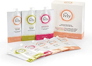 so Lvly Natural Ingredients Facial Mask Set - Oily Skin, 8 Count