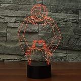 Shooting boy 3D luz LED luz nocturna luz creativa multicolor