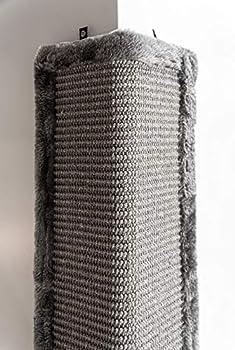 Petrebels Griffoir pour Chat, 57 cm, Avec tapis à gratter et peluche de qualité supérieure, Dans une boîte cadeau, Couleur Gris