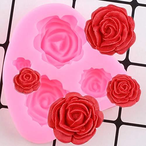 LNOFG Rose Flower Silikonform Kuchen Dekoration Werkzeug Kuchenform DIY Chocolate Candy Clay Harzform