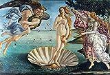 Hatytoyu El Nacimiento de Venus Renacimiento Pintura sobre Lienzo Reproducción de Botticelli Impresión artística Cuadro de Pared clásico (23.62x31.50 in) 60x80 cm Sin Marco
