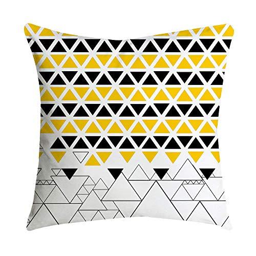 Janly Clearance Sale Funda de almohada de piña, color amarillo, funda de almohada para sofá o coche, decoración del hogar, funda de almohada para el día de Pascua (A)