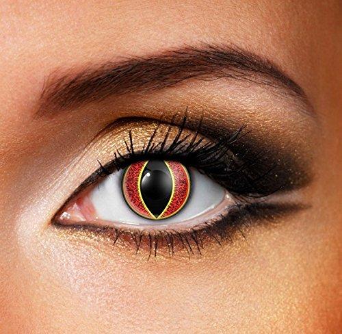 Funky Vision Kontaktlinsen - 3 Monatslinsen, Sauron, Ohne Sehstärke, 1 Stück