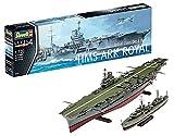 Revell Modellino di Nave 1: 720–portaerei HMS Ark Royal e Distruttore del Tribal Classe F75Eskimo in Scala 1: 720, Level 4, Riproduzione Fedele all' Originale con Molti Dettagli, 05149