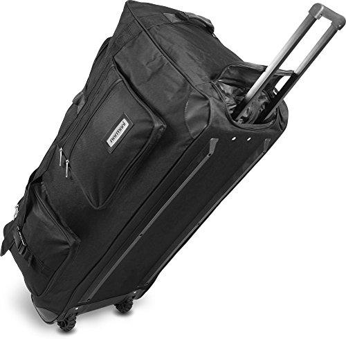 Viaggio e di borsa sportiva con funzione trolley di normani®, Schwarz / 120 Liter, XXL