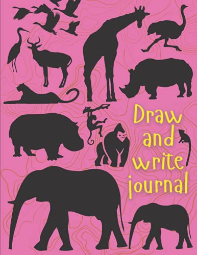Draw and write journal for kids k-2 early primary story journal: Kindergarten draw and write journal. Half page lined paper with drawing space. Dotted ... Large 8.5'' x 11'' size, 114 White Pages.
