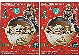 Needzo Star Wars Mandalorian The Child Milk Chocolate Candy Filled 2020 Christmas Advent Calendar, 1.76 Ounce, Pack of 2