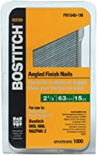 BOSTITCH Finish Nails, FN Style, Angled, 2-1/2-Inch, 15GA, 1000-Pack (FN1540-1M)