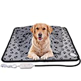 wangstar X-Large Pet Heating Pad & Pet Heated Blanket Warm Pet Heat Mat for Dogs Cats with Chew Resistant Steel Cord, Waterproof Electric Heating Pad, 28X23.6 in