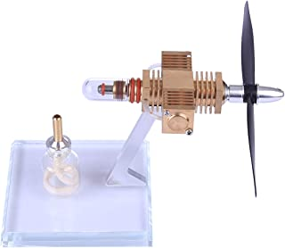 WOLFBUSH Hot Air Stirling Engine Model Propeller Aircraft Head Shape Stirling Motor Model Toy for Children and Adults