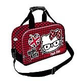 Karactermania Hello Kitty Vichy Bolsa de Deporte Infantil, 38 cm, rojo y negro