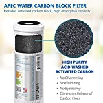 APEC Water Systems Filter-Set US Made Double Capacity Replacement Stage 1-3 for Ultimate Series Reverse Osmosis System… 15 APEC ULTIMATE high capacity pre-filter set is USA made and built to last 2x longer than other brands 1st stage polypropylene sediment filter to remove dust, particles, and rust 2nd & 3rd stage extruded carbon block filters to remove chlorine, taste & odor