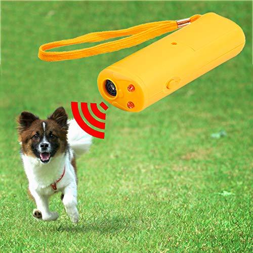 JSZ Halsband Hund Anti Bellen 3 In 1 Hundetraining Gerät Trainer Mit Led Anti Barking Ultraschall Hundeabwehr Barking Stop Control Pet Produkte Großhandel