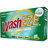 WashEZE Travel Friendly (20 loads) Laundry Detergent Soap Sheet-No Scent Laundry Sheets are More Efficient than Powders Pods Pacs or Liquids TSA Compliant