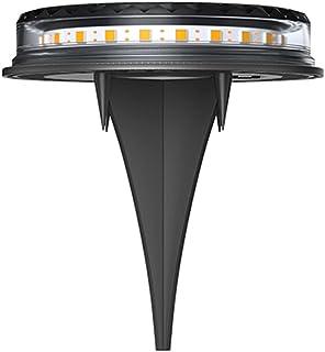Staright Lâmpada solar de 4 unidades com luz quente Lâmpada solar de solo Lâmpada solar para gramado