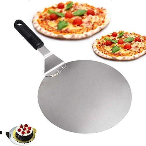 Pizza Peel, vievogue Paddel rund Kuchen Schaufel Backen Werkzeuge grip-stainless Stahl-blade-handle Deal für Backen auf Pizza Cookie Stein Ofen Grill