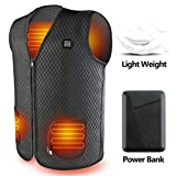 Heated Vest, USB Charging Electric Heated Jacket Washable for Women Men Winter Outdoor Motorcycle Riding with Rechargable Battery