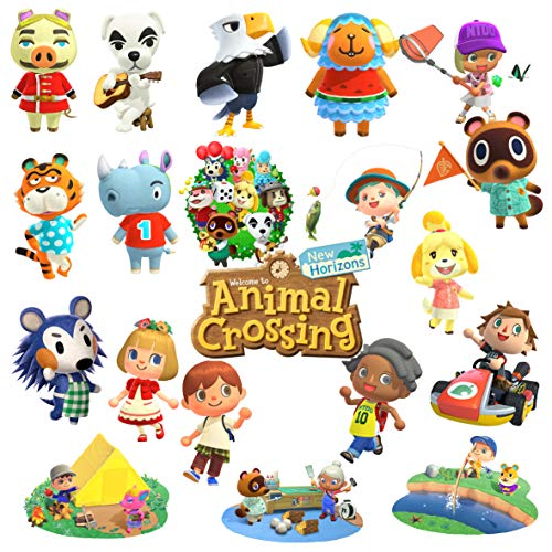 GTOTd Stickers for Animal Crossing (Large Size 20PCS) . Gifts Toys Animal Crossing Merchandise Party Supply for Kids Birthday Party Gifts