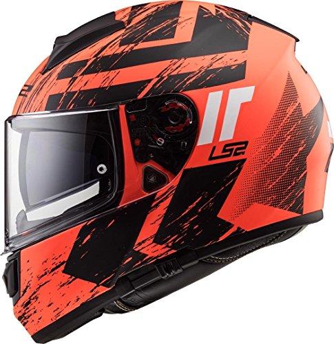 LS2 Casco de moto FF397 VECTOR FT2 HUNTER MATT Naranja Negro