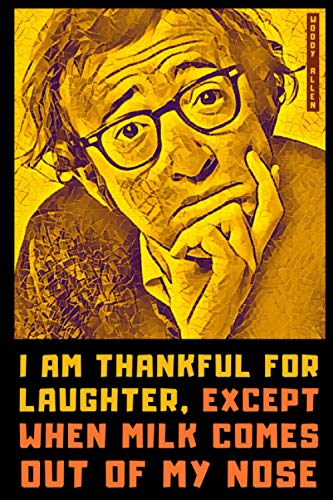 Woody Allen: Lined Notebook Journal (6x9, Easy to Carry) + 100 Painfully Funny One-liners Inside