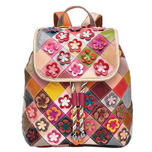 Eysee Rucksack Leder Damen-Lederruck Handtasche Rucksacktasche Schulrucksack Daypacks Outdoor Sports