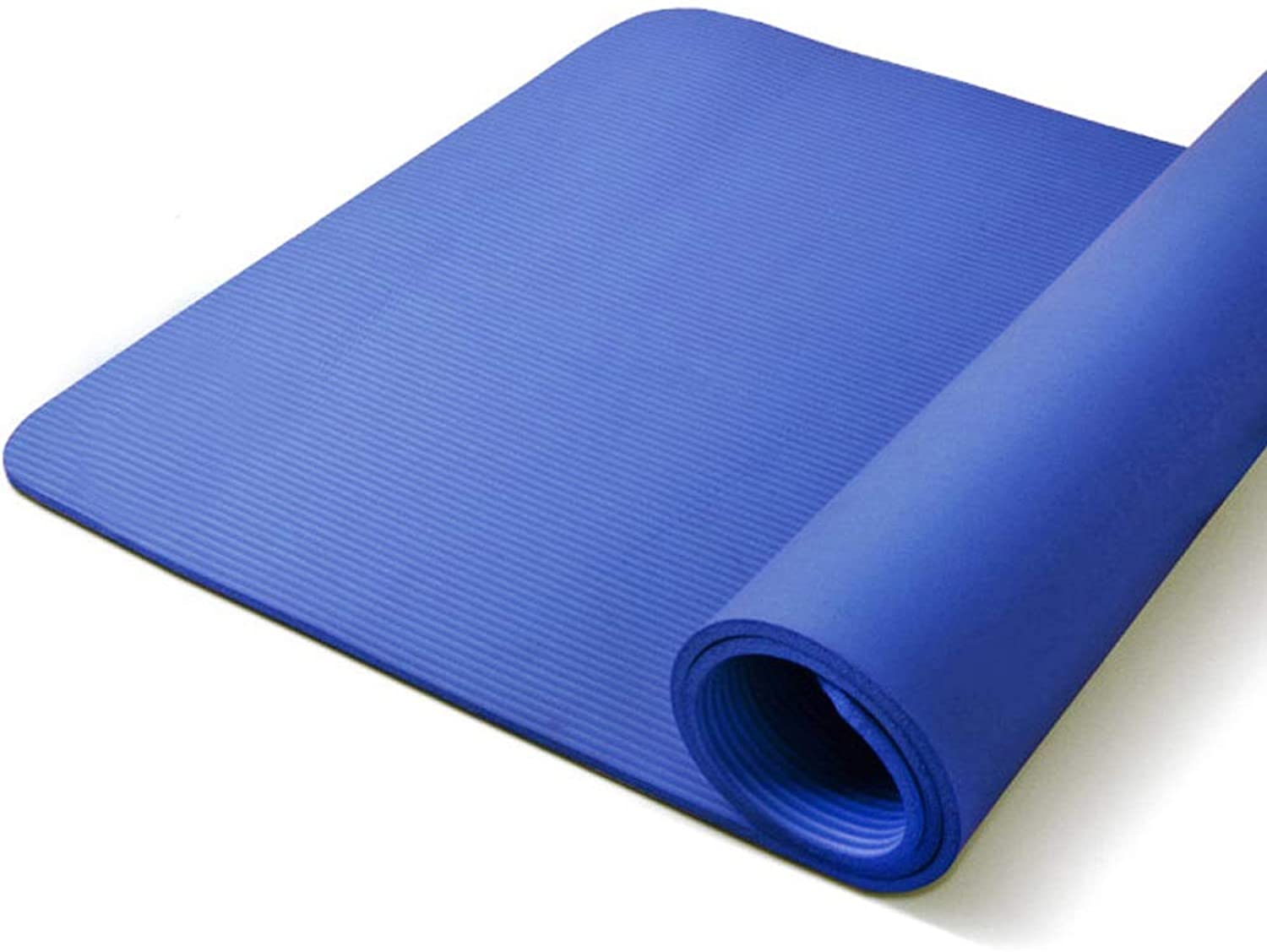 Double Use 1 2 inches Extra Thick 79  51  Long High Density AntiTear NonSlip Exercise Mat, Yoga Mat, Pilates Mat with Carrying Strap for Fitness, Workout