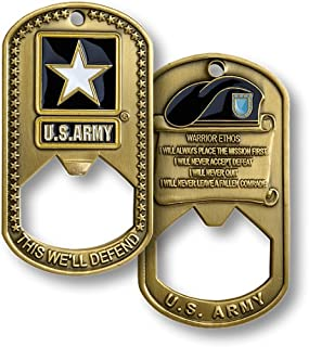 Northwest Territorial Mint U.S. Army Dog Tag Bottle Opener