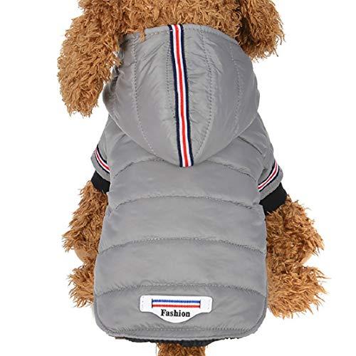 Bluelucon huisdierkleding voor puppy's, winterjas met capuchon, hondenmantel voor herfst en winter comfort, kat, hondenjas, warme katoenen jas voor katten, puppy's