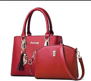 Women bag Casual women's handbags Luxury handbag Shoulder bags new bags for women Composite bag,Red,S