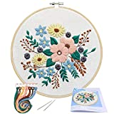 Full Range of Embroidery Starter Kit with Pattern, Kissbuty Stamped Embroidery Kit Including Embroidery Cloth...