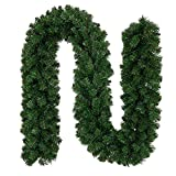 Ricdecor Christmas Garland 9 Foot Spruce Garland Greenery Christmas Garland Decorations for Outdoor/Indoor Christmas Garlands Cleanrance for Mantle
