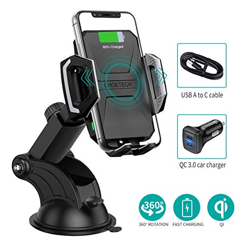 CHOETECH Wireless Car Charger, 10W Max Qi Wireless Fast Charger Car Mount...