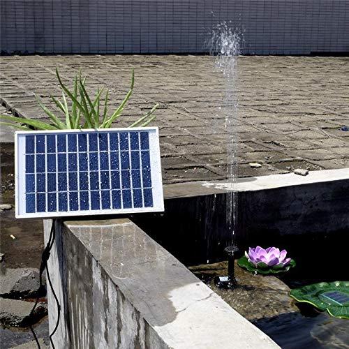 HEQIE-YONGP Herramienta de jardinería Grupo H Solar Fuente de Agua 380L / Fuente de jardín Piscina al Aire Libre Estanque Solar Fuente Flotante Fuente de la decoración del jardín (Color : 5W)