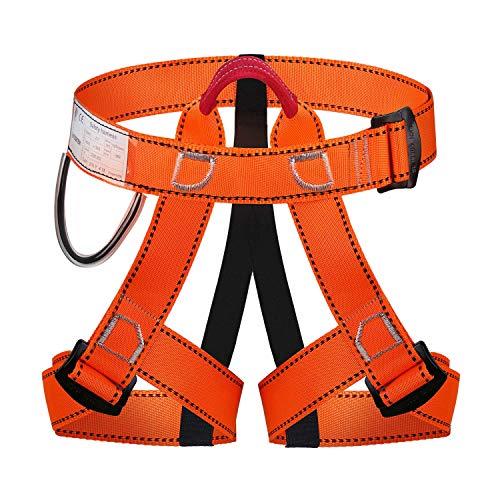 Wildken Mehrzweck Klettergurt, Absturzsicherung Taille Hüfte Schutz Sicherheitsgurt Outdoor bergführern Klettern für Bergsteigen Sportklettern Feuerwehr Baumklettern (Orange)