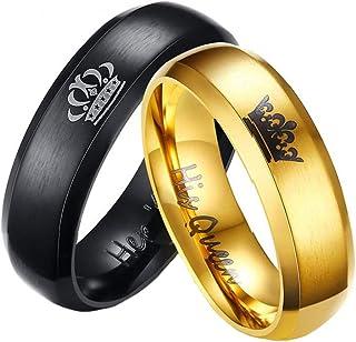 زوج من الخواتم المطلية بالذهب للنساء من يلو تشايمز طراز (YCFJCR-360QN-GLBK)