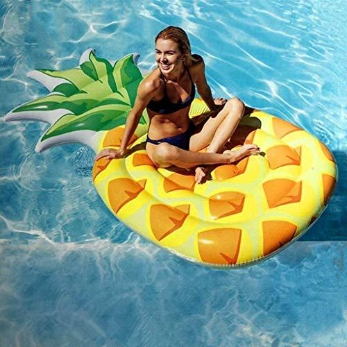 WSJTT Flotante Fila Bed Shower Point Float, Fila Flotante Inflable Piña Gigante Piña de Piña Adecuada para Adultos Niños, Juguetes de Agua 216 * 124cm