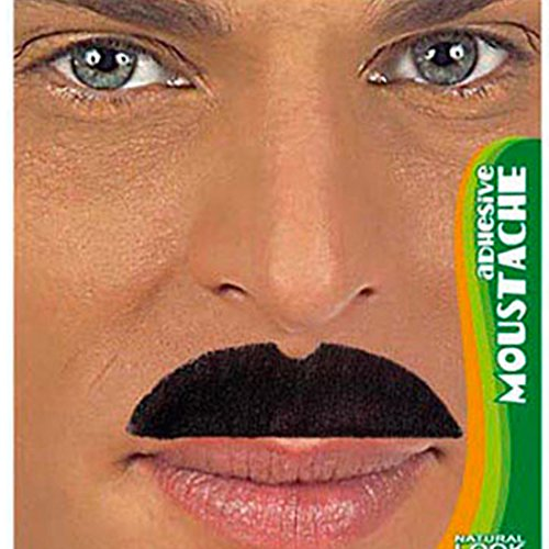 NET TOYS Fausse Barbe Moustache Carnaval autocollante Barbe de Carnaval Barbe Carnaval modèle a