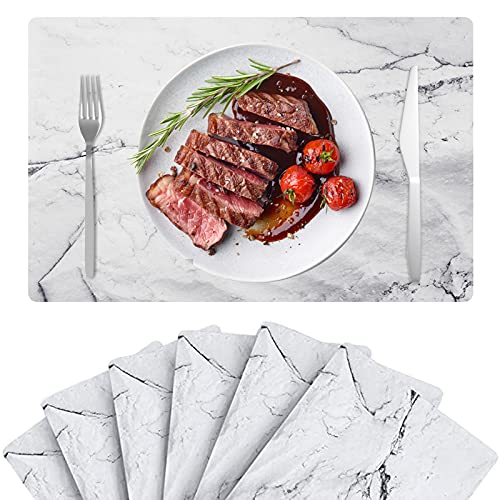 Set of 6 Wigood Marble Placemats Now $8.99