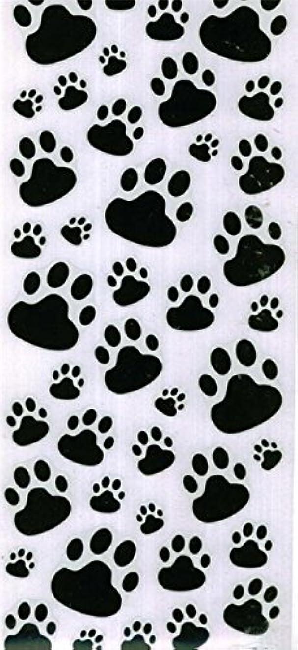 Large DOG PAW Print Stickers - Black/white