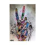 VSOO Graffiti Street Art Gemälde Wandbild Faust Pop