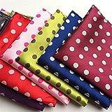 NJZYB 10pcs / set 2 5 CM Pañuelo for hombres Traje de negocios Accesorios for hombre Pocket Squares Pattern Pattern Handkerchief (Color : Multicolor, Size : 9.83 * 9.83inch)