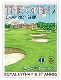 2012 Open Championship Poster by Lee Wybranski