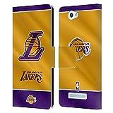 Head Case Designs Offizielle NBA Banner 2019/20 Los Angeles Lakers Leder Brieftaschen Huelle kompatibel mit Wileyfox Spark/Plus