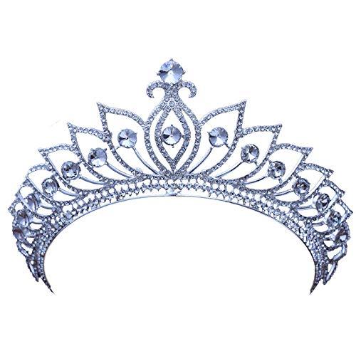 Tiara Legering Rhinestone Bridal Crown hoofdtooi schattige prinses paleis in Europese stijl vrouwen simpel mode bruiloft bruiloft haarsieraad vintage hoofdband party cadeau