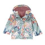 Toddler Kids Baby Girl Long Sleeve Coat Print Warm Rain Jacket Hooded Outwear 1-6 Years Old (18-24 Months, Green)