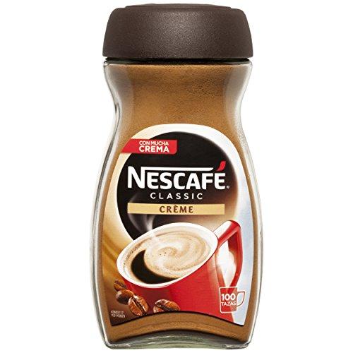 Nescafé Café Classic Soluble Crème, Bote de cristal - 200 gr de Café