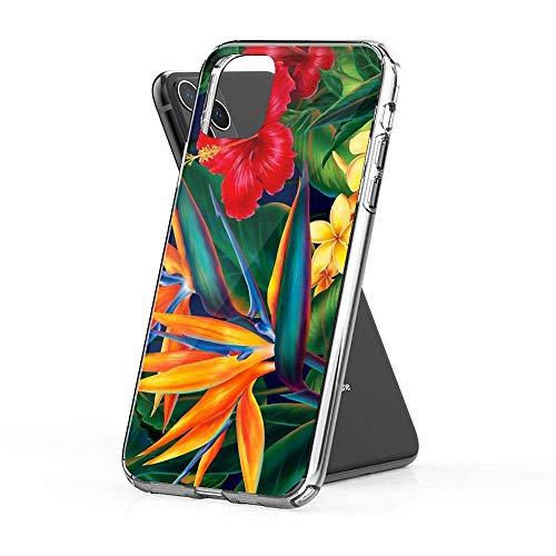 XS 7 8 plus SE XR X Mini, Pro, Pro max 11 Bird of Paradise Tropical Flowers and Fern Hawaiian Floral iPhone Case 12 Pro Pro max Xs max