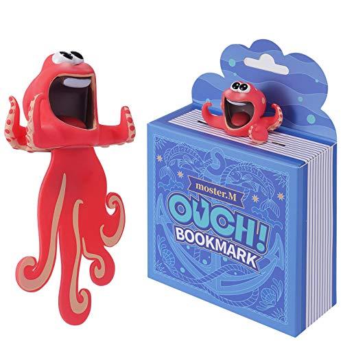 SHAPRESS Witzige 3D Cartoon Tierlesezeichen, Lesezeichen Kinder, Lustige Geschenk für Jungen und Mädchen sowie Erwachsene (Oktopus)